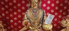 Maa Annapurna offering food to Kashi vishwanth ji